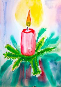 CHRISTMAS  CANDLE by Maria-Anna  Ziehr