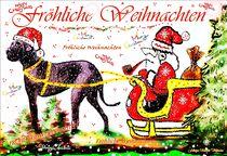 ~ Santa Claus with Dog ~ von Sandra  Vollmann