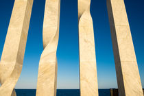 Les quatre barres de la senyera catalana sculpture by La Municipal de Barcelona