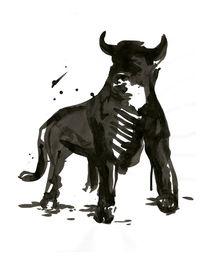 Tuschezeichnung Stier von liga-visuell