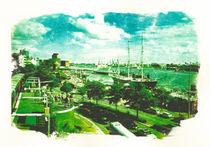 Hamburg Landungsbrücken, Blick auf die Rickmer Rickmers von liga-visuell