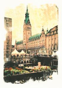 Hamburg Rathaus mit Rathausmarkt von liga-visuell