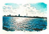 Hamburg Außenalster mit Blick auf Fernsehturm von liga-visuell