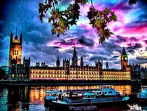 Westminster and Boats von GabeZ Art