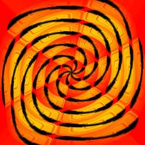 Vibrant tigerlike abstract by Gaspar Avila