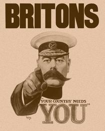 Britons Your Country Needs You - Lord Kitchener by warishellstore