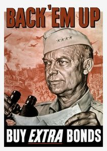 Back 'Em Up -- General Eisenhower Poster von warishellstore
