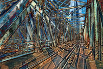 Eisenbahnbrücke über die Waag bei Trencin Slowakei von Christian Hallweger