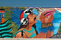 Wandgraffiti im Hafenviertel von San Diego von Christian Hallweger