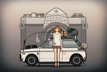Illu-honda-n600-pentax-girl-poster
