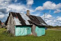 Bootshütte türkis von Christian Hallweger