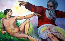 Die Erschaffung Adams by art-galerie-quici