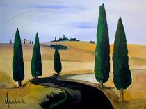 Toscany five cypress von art-galerie-quici