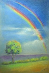 Regenbogen-handgemalt