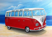 Sambabus, Rot/Weiß von Daliah Sölkner