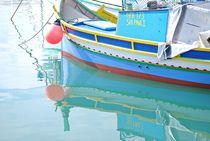 'fisherboats in Marsaxlokk, Malta... 15' von loewenherz-artwork