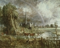 Salisbury Cathedral From the Meadows von John Constable