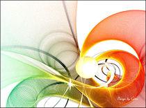 Digital Fraktal Schwungvoll 2 von bilddesign-by-gitta