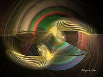 Digital Fraktal Vogelpaar von bilddesign-by-gitta