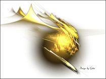 Digital-fraktale-goldene-kugel