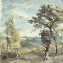 Landscape with Trees and a Distant Mansion von John Constable