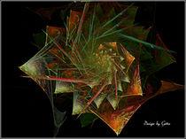 Digital Fraktaler Fächer von bilddesign-by-gitta