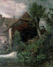 Watermill at Gillingham von John Constable