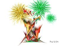 Digital Fraktales Feuer von bilddesign-by-gitta