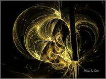 Digital Fraktales Golddekor von bilddesign-by-gitta