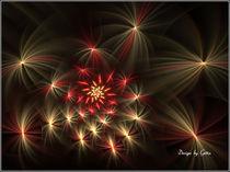 Digital Fraktales Sternenfeuer von bilddesign-by-gitta