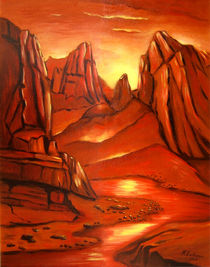Mystischer Sonnenaufgang -  Mystic canyon von Marita Zacharias