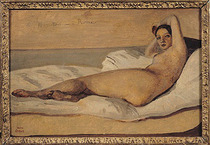 The Roman Odalisque  by Jean Baptiste Camille Corot