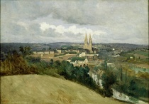 General View of the Town of Saint-Lo von Jean Baptiste Camille Corot
