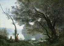 Souvenir of Montefontaine by Jean Baptiste Camille Corot