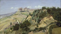 Volterra by Jean Baptiste Camille Corot