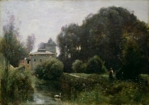 Souvenir of the Villa Borghese by Jean Baptiste Camille Corot
