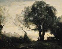 Souvenir of Castel Gandolfo  by Jean Baptiste Camille Corot