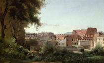 View of the Colosseum from the Farnese Gardens von Jean Baptiste Camille Corot