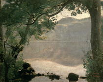 Lake Nemi von Jean Baptiste Camille Corot