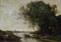 River Landscape  by Jean Baptiste Camille Corot