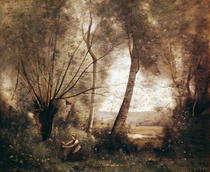 Landscape  by Jean Baptiste Camille Corot