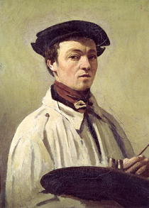 Self Portrait by Jean Baptiste Camille Corot