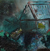 Fiskerhus i tågedis by Anette H.