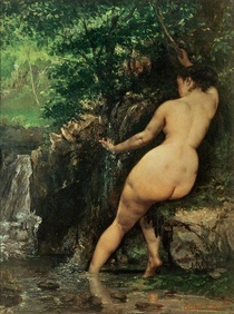 The Source or Bather at the Source by Gustave Courbet