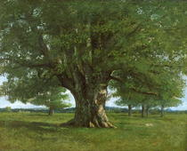 The Oak of Flagey von Gustave Courbet