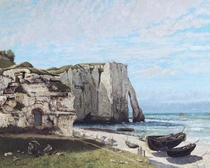 The Cliffs at Etretat after the storm by Gustave Courbet