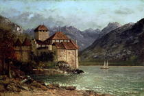 The Chateau de Chillon by Gustave Courbet