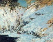 Snowy Landscape by Gustave Courbet
