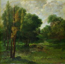 Forest Landscape by Gustave Courbet