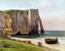 The Cliffs at Etretat by Gustave Courbet